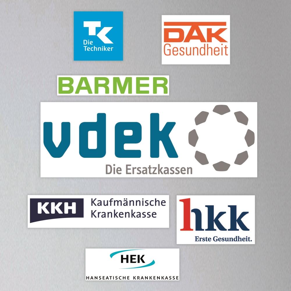 Logos der Mitglieder der vdek.